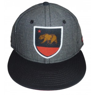 So Cal California Republic Chambray Republicad Snap Snapback Hat