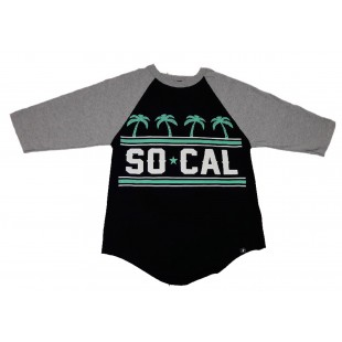 So Cal Sunset Palms Ranglan L/S Shirt