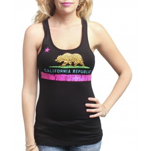 California Republic Cali Cheetah Tank Top